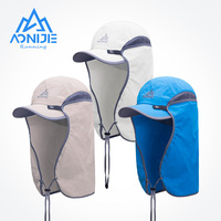 AONIJIE-Sombrero de pesca E4089 Unisex, gorra visera para exteriores, protección solar UPF 50 con cubierta de solapa de cuello y Oreja extraíble para senderismo