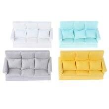 Mini Dollhouse Sofa Furniture Girl Ce with 3-Pillows for Toys 1set