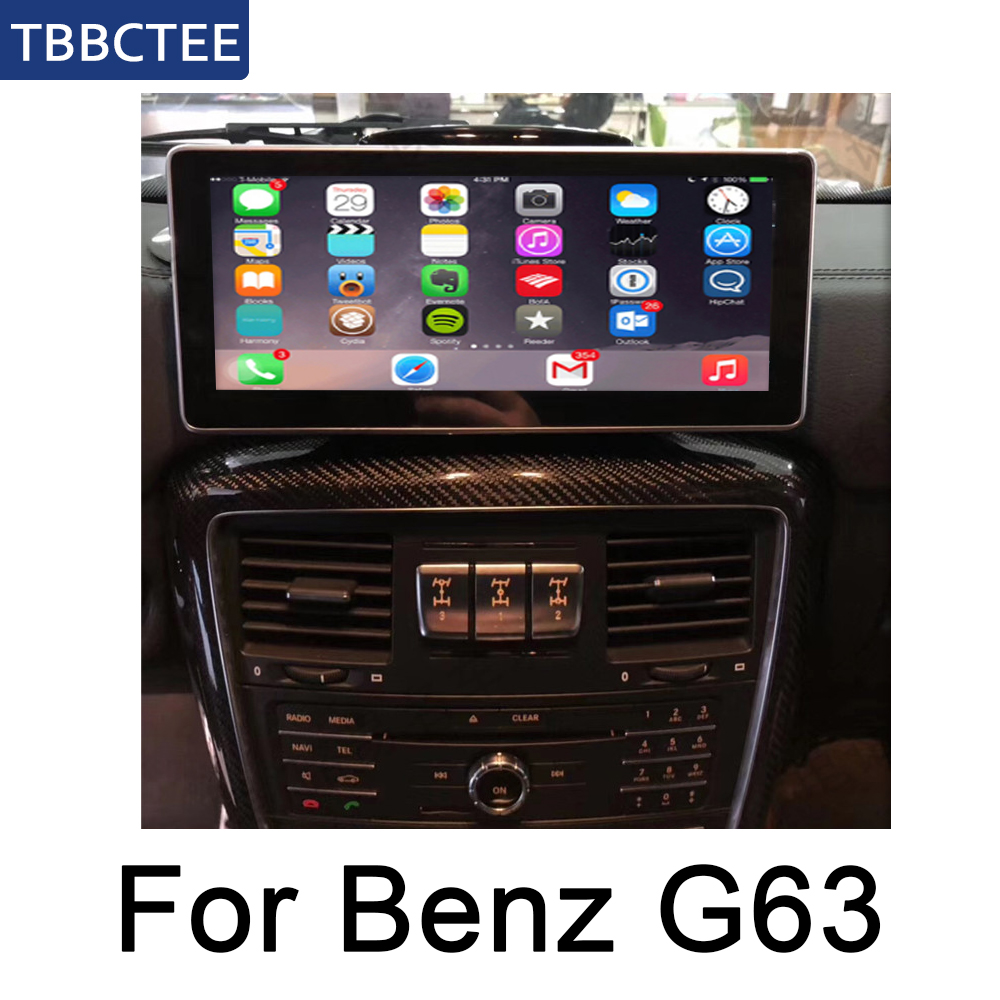 For Mercedes Benz G63 2012~2017 NTG 10.25 HD 1080P IPS LCD Screen Android 8 Core Car Radio BT 3G4G AUX USB GPS Navi Multimedia