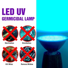 UV Disinfection Sterilizer 25W 35W 50W Led Germicidal Light 220V E27 LED UVC Ozono Lamp 110V Bacterial Bulb 2835 Amuchina