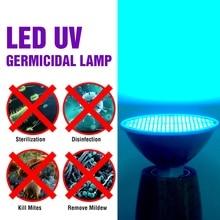 Ультрафиолетового обеззараживания стерилизатор 25Вт 35Вт 50Вт LED Гермицидный свет 220V E27 светодиодные лампы 110V УФ озоно бактериальной лампы 2835 Amuchina