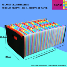 Rainbow 24-Story A4 Student Test Paper With Organ Clip Multi-Layer Storage Clip Telescopic Standing Folder