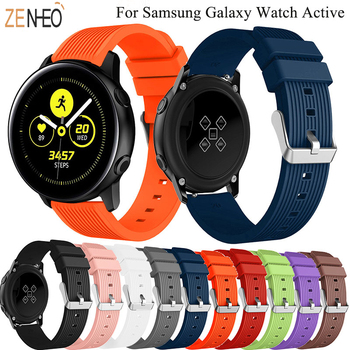 20mm silicone sport watch band For Samsung Galaxy watch 42mm active 2 gear S2 Gear sport Frontier strap huawei watch GTS strap leather loop strap for samsung gear sport gear s2 classic watch band 20mm for samsung gear sport replacement smart watch strap