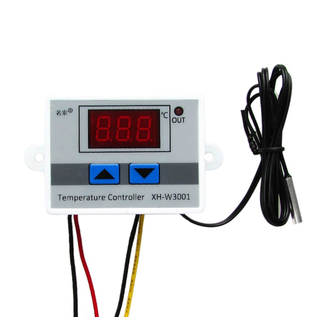 W3001 Temperature Controller Digital Led Temperature Controller Thermometer Thermo Controller Switch Probe Dc12/Ac220V