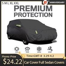 Pokrowiec na samochód Full Sedan pokrowce na pasek odblaskowy ochrona przeciwsłoneczna pyłoszczelna i wodoodporna odporna na zarysowania UV uniwersalna