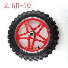 Hoge Kwaliteit Rubber Motorfiets Band 2.50 10 Binnenband Buitenste Trye, voor en Achterwiel, wielnaaf