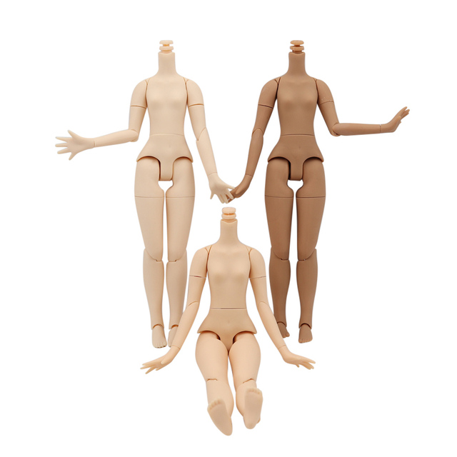 Joint Body 21cm for 30cm 1/6 Blyth icy BJD with small breast white natural dark skin suitable for DIY toy gift