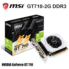 MSI Gaming GeForce GT 710 2G DDR3 64 bits PCI Express 2.0 prend en charge DirectX 12, openGL 4.5 carte graphique à ventilateur unique nouveau
