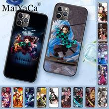 Demon Slayer Kimetsu Tidak Yaiba TPU Silikon Lembut Hitam Ponsel Case untuk iPhone 11pro 5 S 6 S 7 8plus X XS XR Xsmax Coque Cover(China)