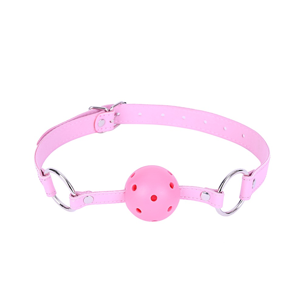 SM Sex Toy Leather Opening Gag Sex Bondage Mouth Plug Adult Mouth Ball Exotic Accessories Adult Products Alternative Toys