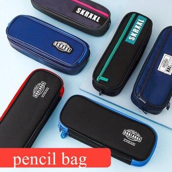 Новый студенческий пенал для карандашей, сумка для ручки, кисти для макияжа, сумка на молнии, вместительный канцелярский органайзер, офисны...