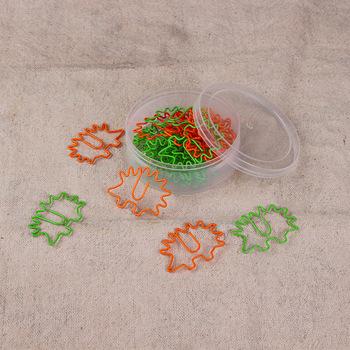 Jeż klip zwierząt klip kreskówka klip kreatywny klip spinacz kolorowy klip klip kształt tanie i dobre opinie Orange Green Le Point Printing Convention 0808