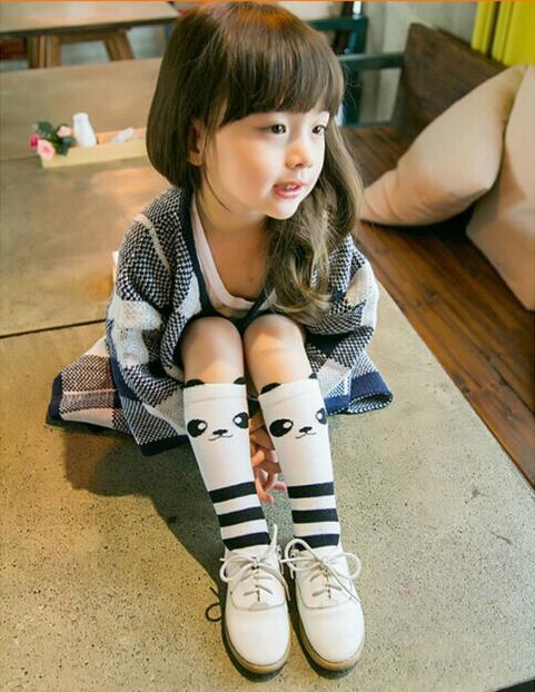 Cartoon Kids Cute Cotton Socks Panda Animal Baby Cotton Socks Knee High Long Socks Boy Girls Children Socks  4-6 Years