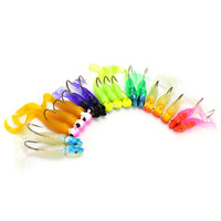 17pcs Soft Fishing Lure Set Fishing Artificial Bait Kit Sea Carp Lead Head Spoon Jig Lures With Hooks Fishing Tackle Accessories