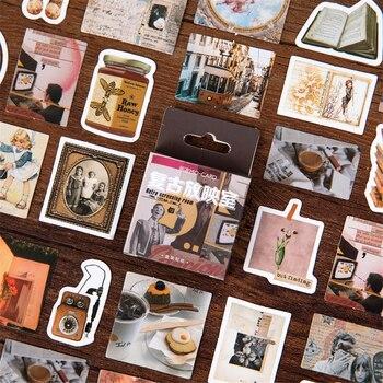 46pcs Retro Library Room Stickers Mini Vintage Zakka Sticker CreativeDIY Art Decoration Adhesive Diary Gift Letter Seal H6584
