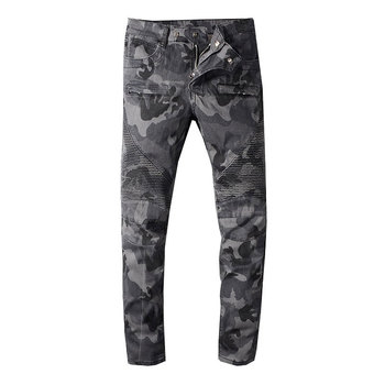 2019 New Style New Men Jeans,Camoufla Color High Quality Patchwork Casual Pants Slim Fit Streetwear Stretch Biker Jeans Men 2019 new style new men jeans blue color high quality patchwork casual pants slim fit brand streetwear stretch biker jeans men
