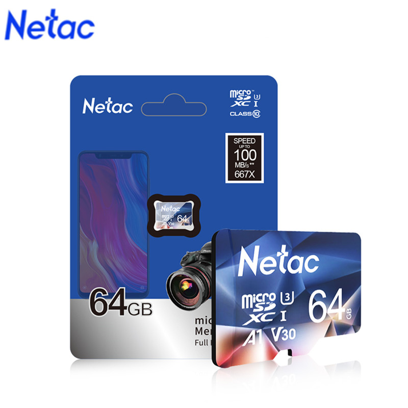 Netac P500 A1 Memory Card 32GB 16GB 100MB/S Micro SD Card Class10 UHS-1 Flash Card Memory 32 GB Microsd Hot Sale Tf Card