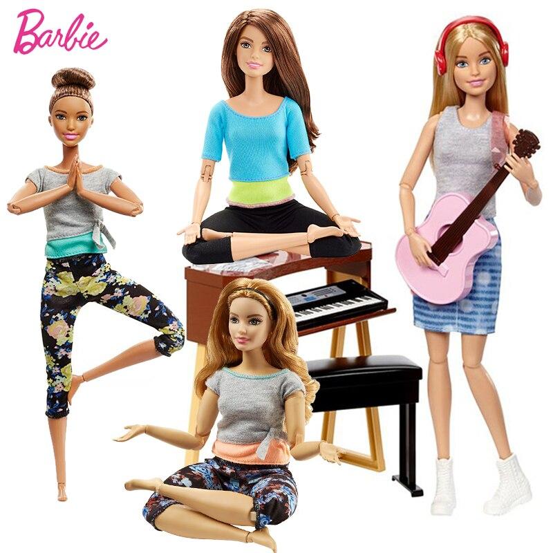 Barbie original yoga boneca dançarina de ginástica esporte menina todas as articulações mover brinquedo conjunto aniversários presentes boneca brinquedos para crianças juguetes