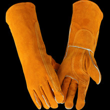 цена на free shipping L 40CM 25CM High temperature resistant tig gloves tig welding gloves finger gloves Heat insulation gloves