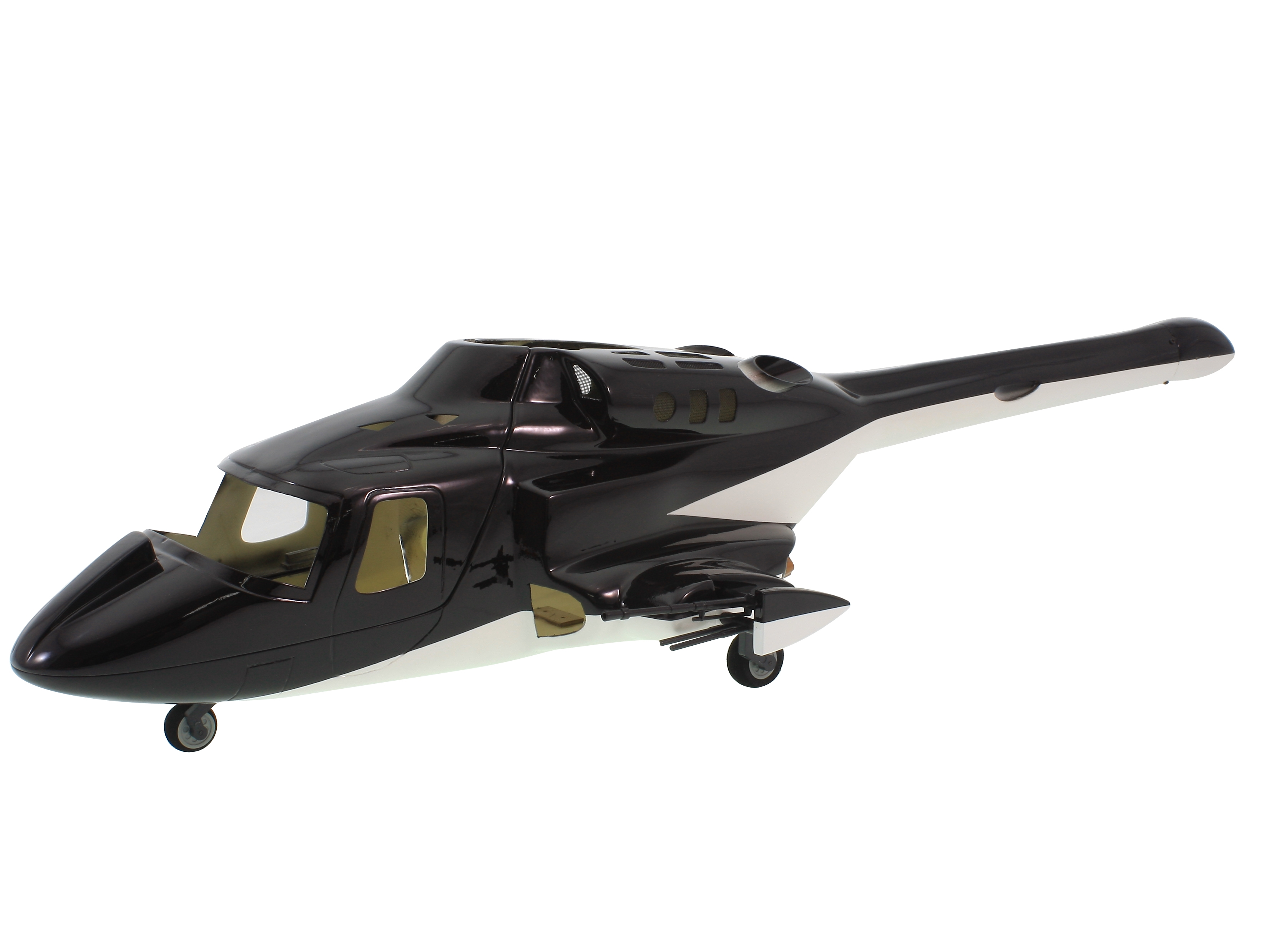 New Version Bell 222 Airwolf 450 Scale Body W/ Retracts&metal Landing Gear For ALIGN T-REX450X/XL/SE/SE V2 450 Helicopters