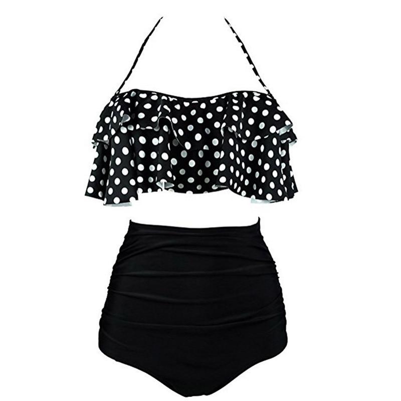 2019 New Bikinis Women Swimsuit High Waist Bathing Suit Plus Size Swimwear Push Up Bikini Set Innrech Market.com
