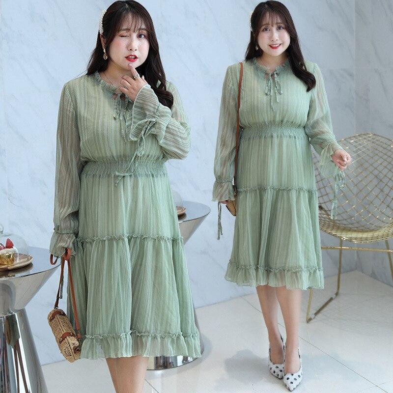 [Xuan Chen] Fat Mm French Platycodon Grandiflorum Skirt MORI Series Skirt Autumn New Style Plus-sized Slimming Skirt On Behalf O