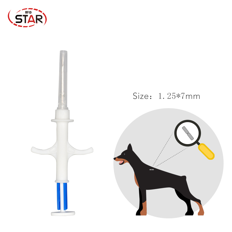 1.4x8mm/1.25*7mm/2x12mm Bioglass Tag FDX-B Dog Chip Animal Implant ISO RFID Microchip Injector Vet Syringe Pet Transponder