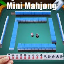 Fun Mahjong Board Games Chinese Traditional Mini Portable Family 24MM Entertainment Gifts