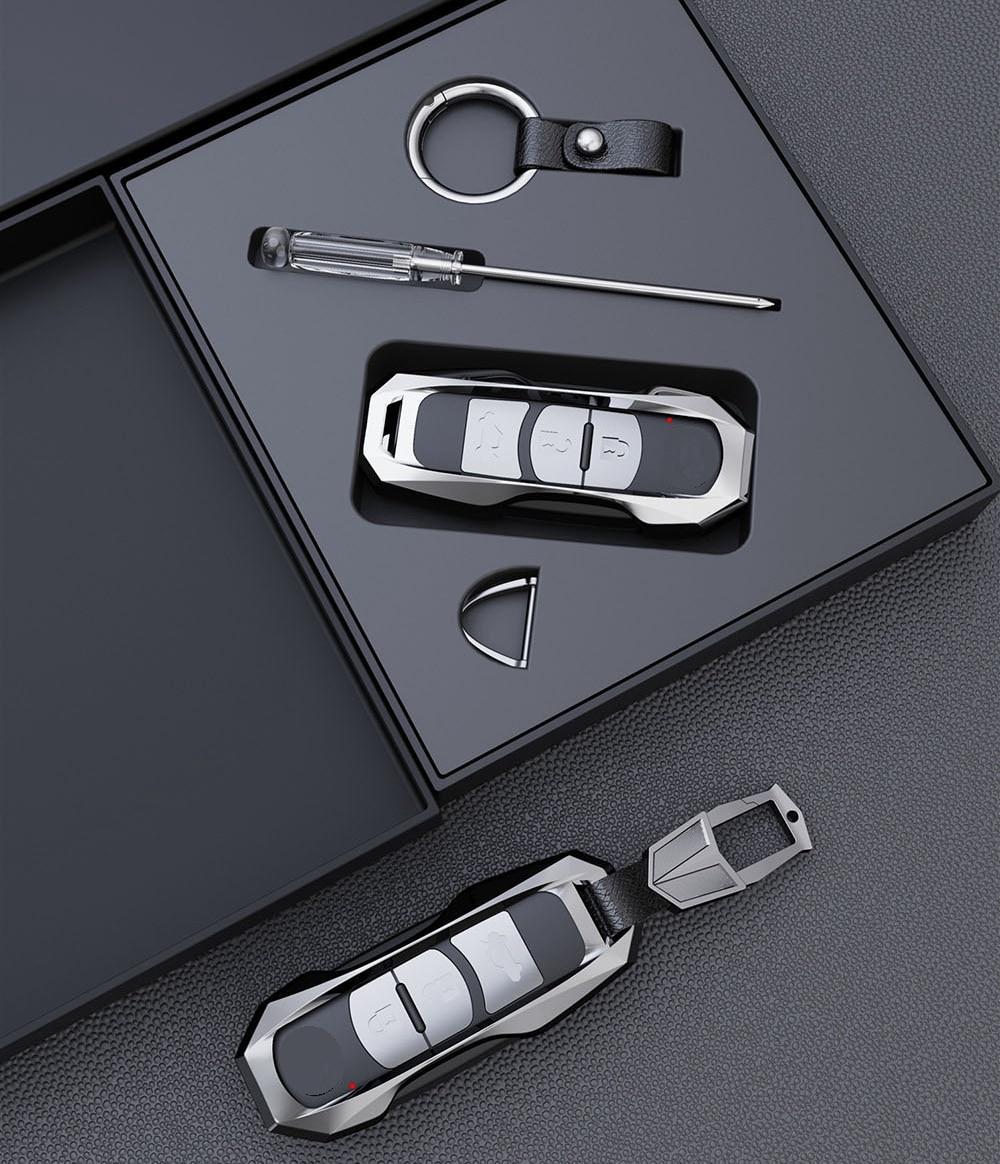 Car Keychain Case Holder For Mazda CX-5 CX-9 CX-3 CX-4 Axela Mazda 6 Atenza 2017 2018 Smart Key Shell Protective Accessories