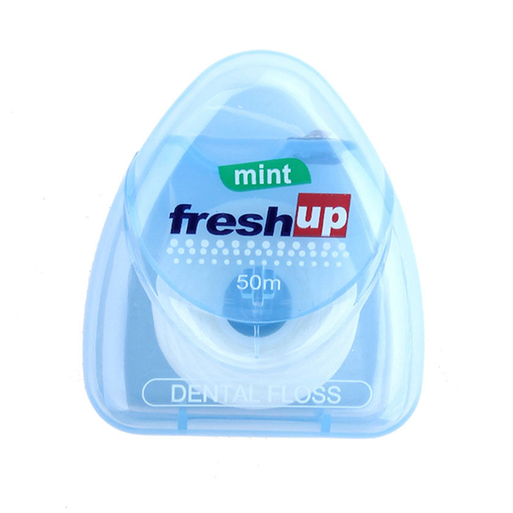1PC50m Dental Floss Peppermint Flavor Oral Hygiene Teeth Cleaning Interdental Brush Toothpicks Floss Teeth Oral Care Tooth Clean