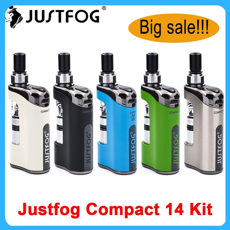 Hot Original JustFog Compact 14 Kit 1500mah Built-in Battery With 1.8ml Q14 Clearomizer Tank Electronic Cigarette Vaporizer Kit