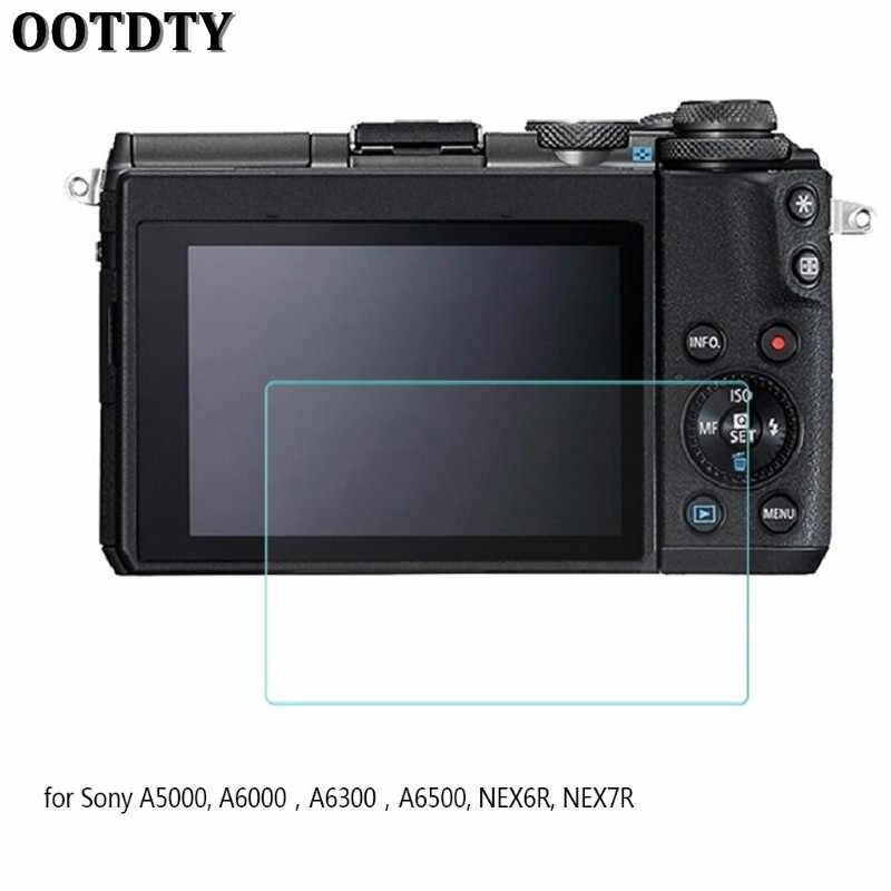 OOTDTY Protector de pantalla de vidrio templado Cámara LCD Protector de película para Sony A6500 nuevo