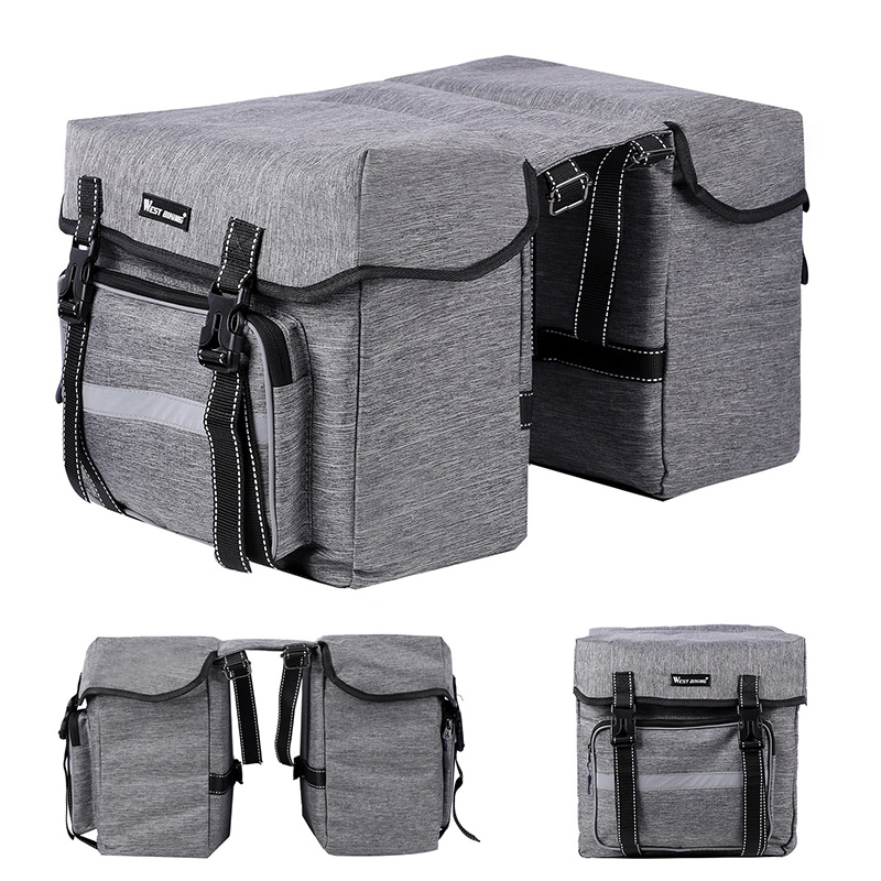 25L Bicycle Double Pannier Travel Bag Cycling Waterproof Bike Rear Rack Storage