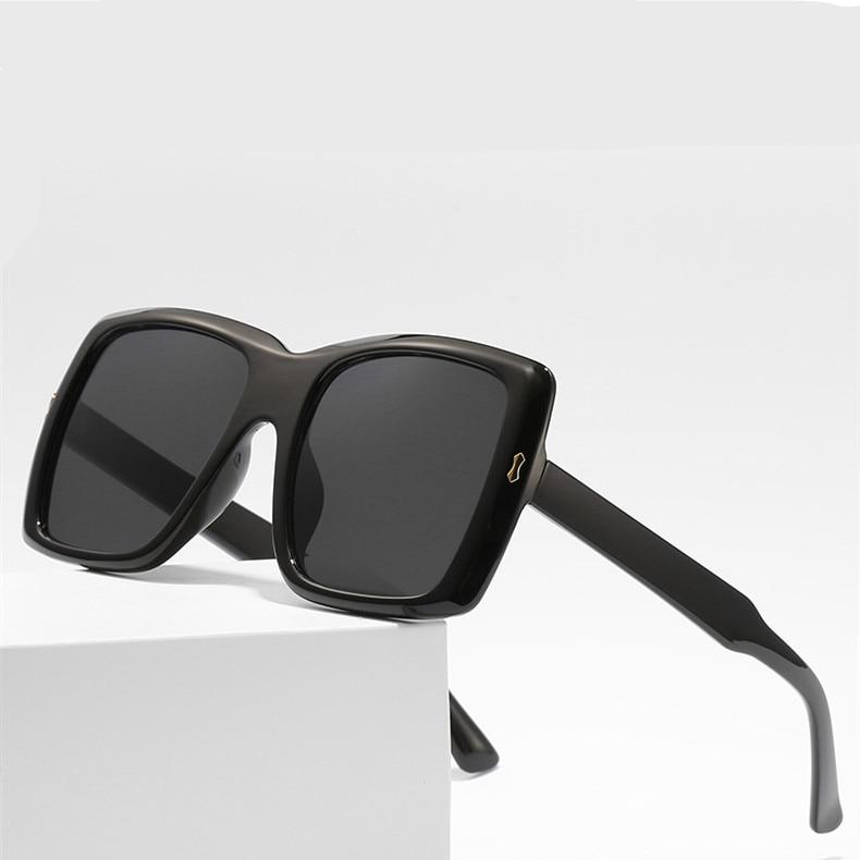 Square Women Sunglasses Oversized Vintage Luxury Brand Large Frame Retro Shades Gradient Sun Glasses Black Female UV400 Gafas