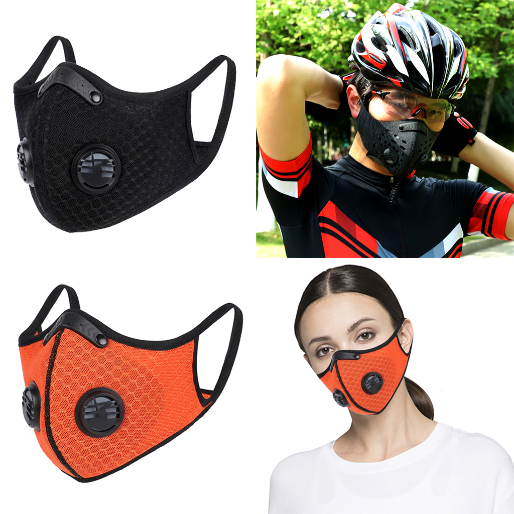 Cycling Sports Anti Dust Gas Activated Carbon Filter Half Face Mask Mountain Bicycle Sport Road Cycling Masks Face Cover