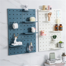 LiGo Shelf Free Punching Kitchen Bedroom Bathroom Wall Shelf Nordic Minimalist Wall Hanging Hole Plate Storage Rack