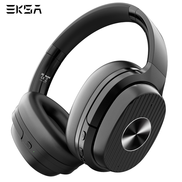 EKSA E5 Bluetooth 5.0 Headphones 920mAh Active Noise Cancelling headphone Wireless Headset With Mic For Phones Foldable Over Ear