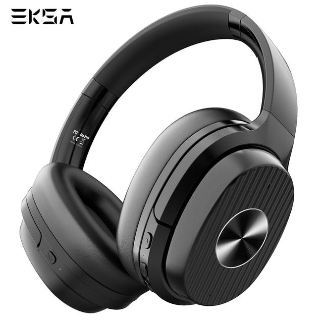 EKSA E5 Bluetooth 5.0 cuffie Wireless 920mAh cuffie con cancellazione attiva del rumore cuffie Over Ear pieghevoli con microfono per telefoni