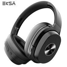 Eksa E5 bluetooth 5.0 ヘッドフォン 920 mah アクティブノイズキャンセルヘッドフォンワイヤレスヘッドセット電話用マイク折りたたみ 耳