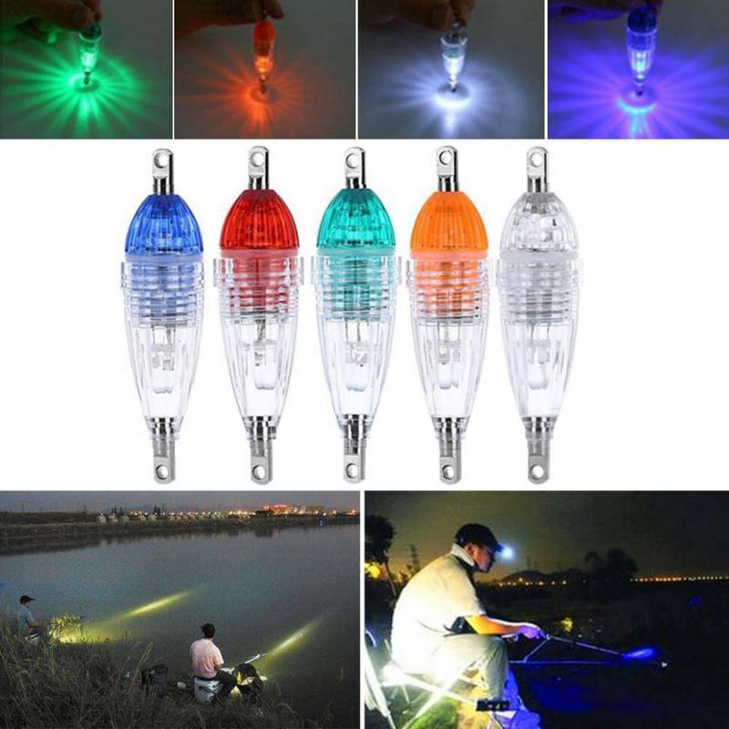 LED Flashing Mini Deep Drop Underwater Lights Fishing Squid Fish Lure Light Green Lamp