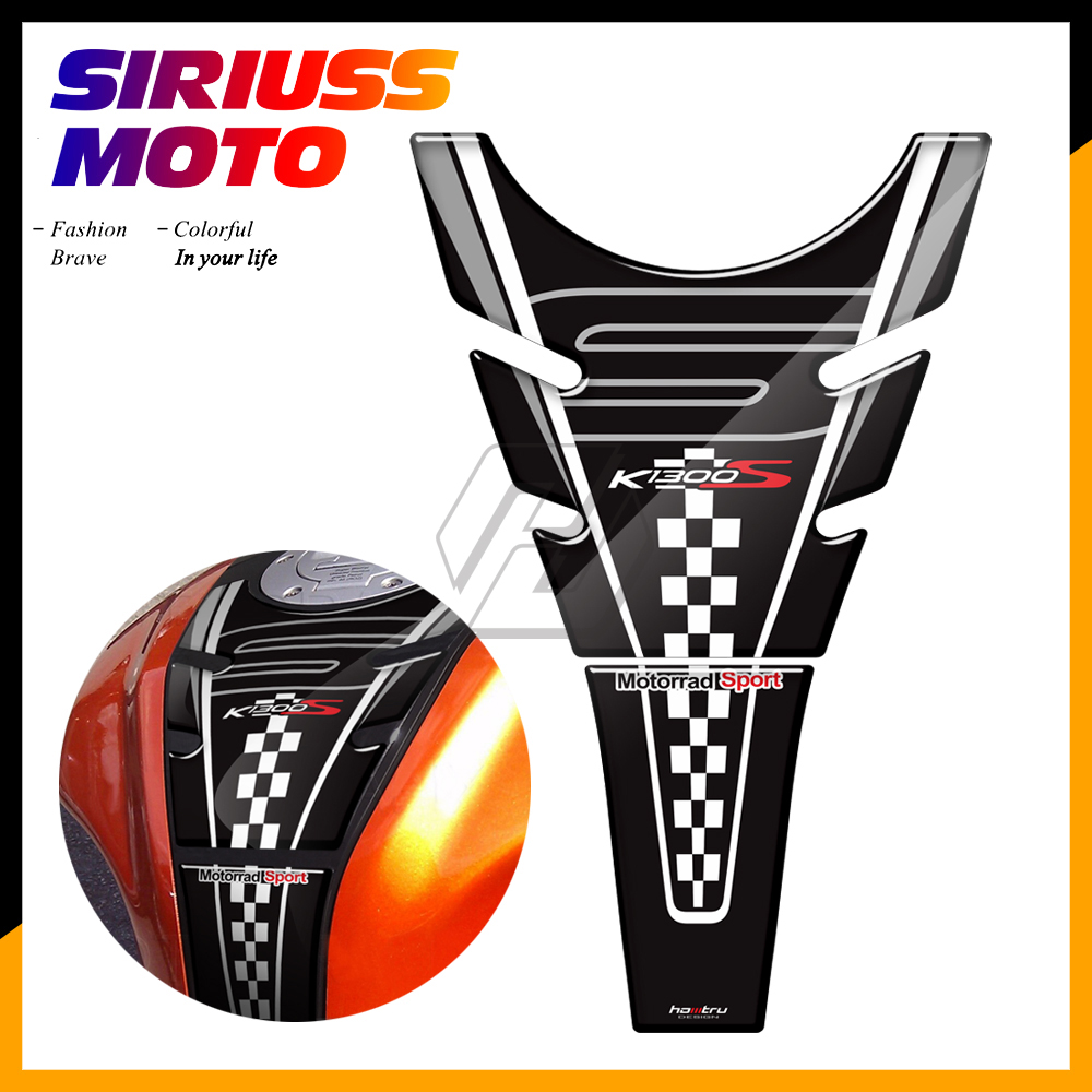 3D Resin Motorcycle Tank Pad Protector Case for BMW K1300S K1300 S 2009-2015 image