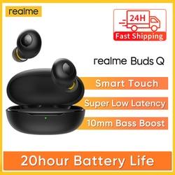 Original realme Buds Q TWS Wireless Headphones In-ear Earphones Touch Control 20 Hours Battery Bluetooth 5.0 IP5 Water resistant