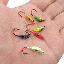 6 шт/лот крючок для зимней подледной рыбалки приманки металлическая