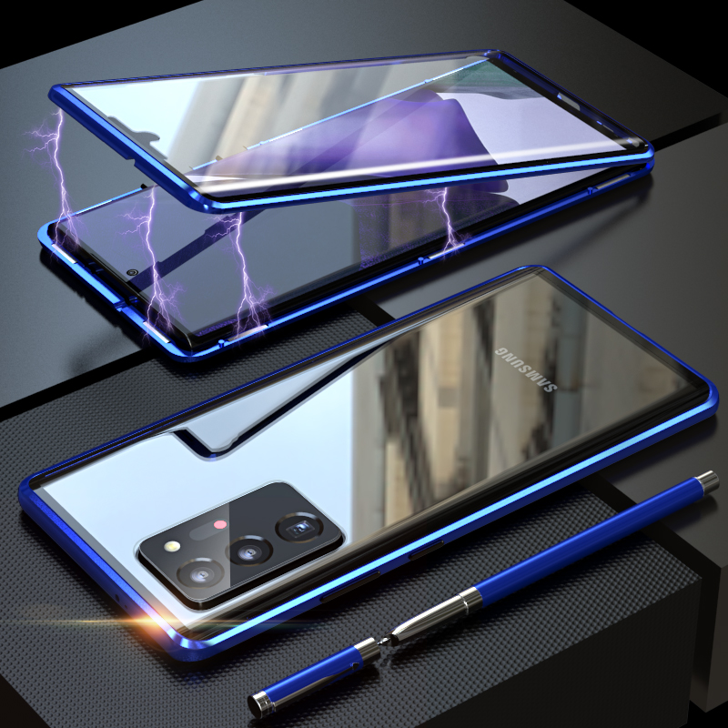 Magnetic Case For Samsung Galaxy S20 S10 S21 S8 S9 Note 20 Ultra Plus  Note 9 A72 A71 A52 s20 fe Cases Glass Cover Metal Funda