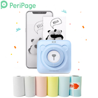 PeriPage Portable Thermal Bluetooth Printer Mini Photo Pictures Printer For Mobile Android iOS Phone 58mm Pocket Machine