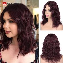 Wignee Short Human Hair Wigs For Black/White Women Middle Part