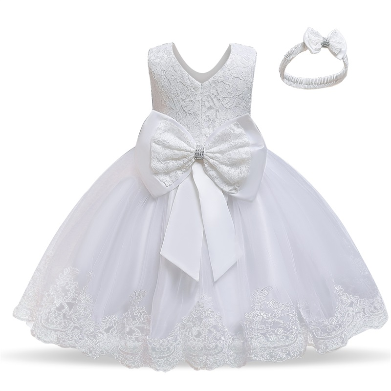 Hot Price Girls Dress Christmas Children Lace Flower
