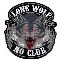 LONE WOLF NO CLUB большая вышитая подложка панк нашивка для байкеров наклейки для одежды аксессуары для одежды значок
