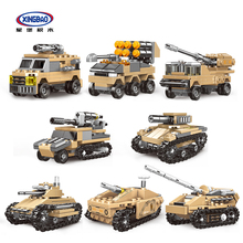 XINGBAO 13005 Lepined Military Army Series 8 IN 1 The Mirage Tank Model Kit Building Blocks Armored Vehicles KIDS DIY TOYS Gifts kitty hawk kh80112 1 48 mirage f 1b plastic model kit