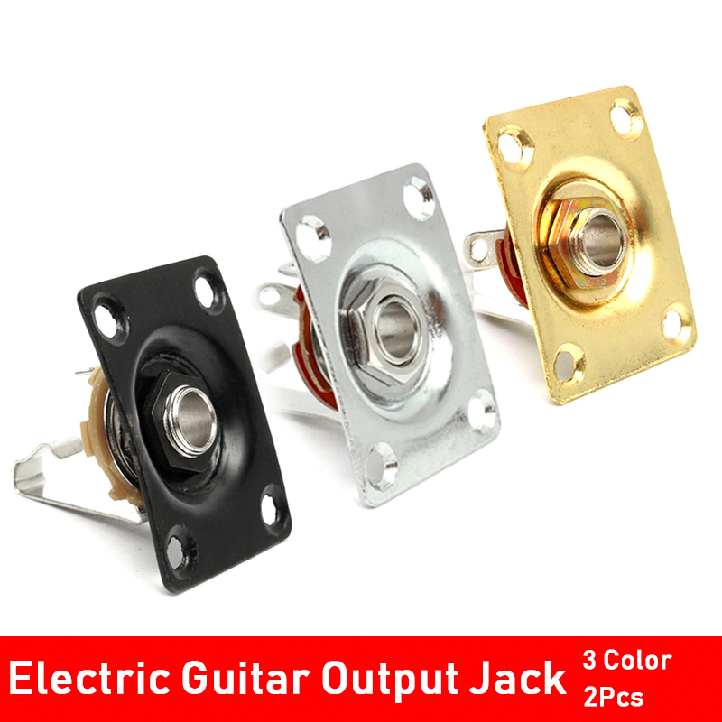 Chrome Square Output Jack /& Plate for Electric Guitar ~ ships from US